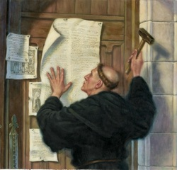 where were the 95 theses posted View notes - luther 95 thesesmartin luther, 95 theses martin luther posted his 95 theses to the door of the castle church at wittenberg, which was a catholic church, on october 31, 1517 this act is.